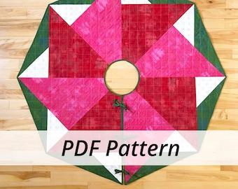 PDF Spinning Star Tree Skirt by Sarah Ruiz Quilts - Digital Download