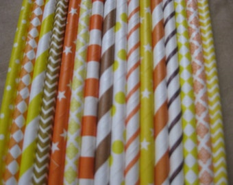 30 Candy Corn Party Straws, Halloween, Trick or Treat