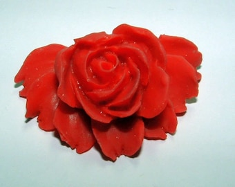 Rose Cabochon Red Rose 3 Dimensional Jewelry Supplies Jewelry Craft Supplies