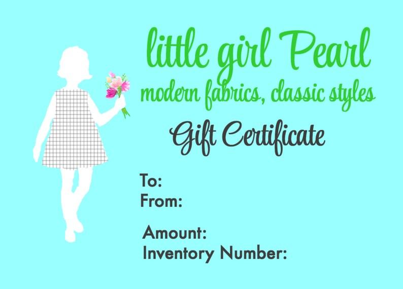 little girl Pearl Gift Certificate image 0