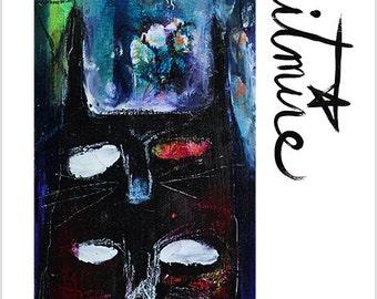 "Print- ""Cat Familiars"" - Animal Companion- Mixed Media Art, Cat Familiar, Cat Totem, Magic Cats"