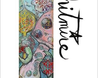 """Print- """"Local Fauna"""" - Mixed Media Art Print"""