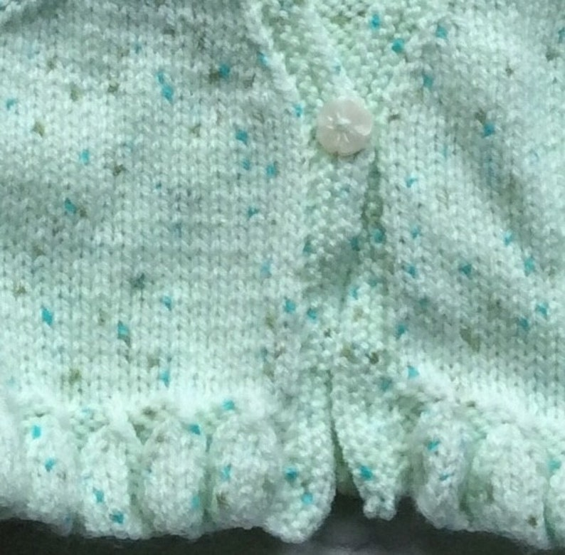 Hand Knitted Cardigan to fit 0 to 3 Month Baby