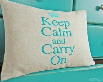 Keep Calm and Carry On - Machine Embroidery Design