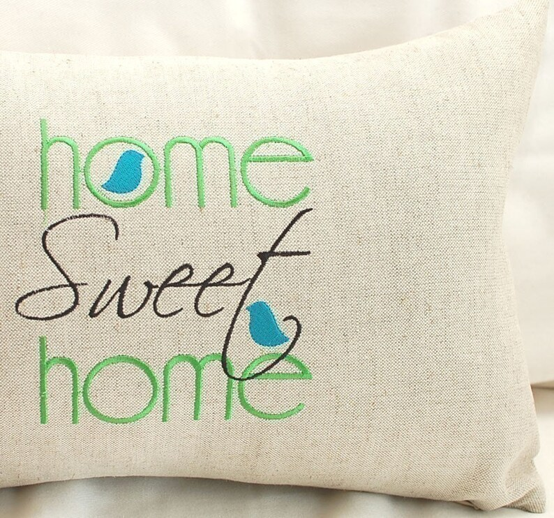 Home Sweet Home Machine Embroidery Design Etsy