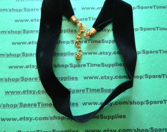 """Darice - Choker with Gold Clasp - black - approx. 15"""" x 3/4"""" - 1 pkg - #1906-95"""