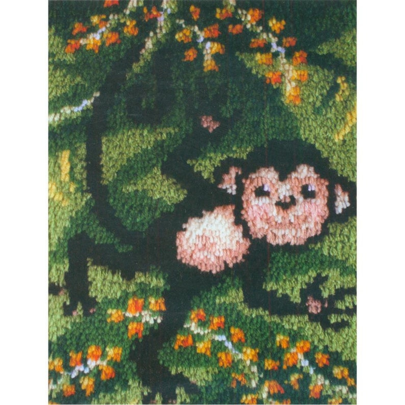 Monkey Wall Hanging Kit Yarn Kit Yarn Art Rug Kit Latch Hook Kit Pillow Top Cover Table Top Decoration Home Decor  #426146 Swingin\u2019