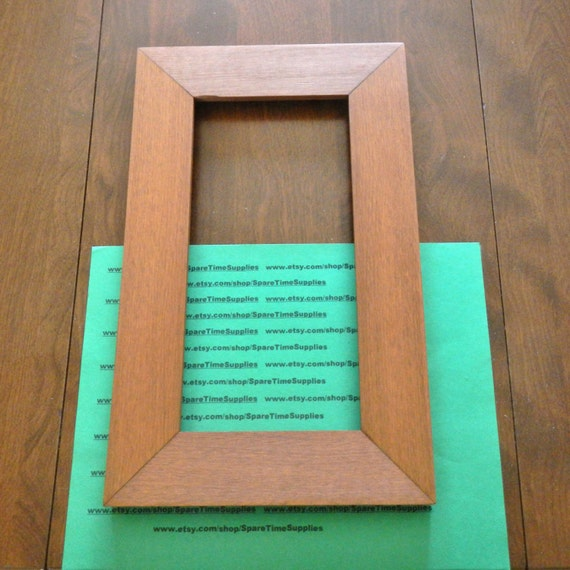 picture frame 13 x 8 stained wood 1 pc 31798 9a etsy. Black Bedroom Furniture Sets. Home Design Ideas