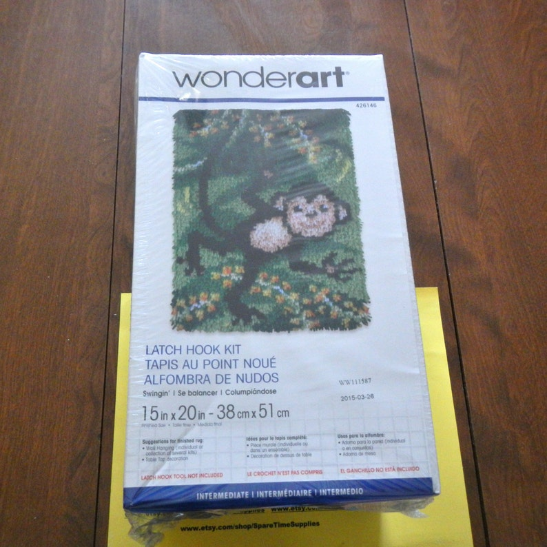 Wonderart 426145c Latch Hook Kit 15 X 20 Prize Kitty