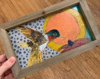 Red Throated Hummingbird Original