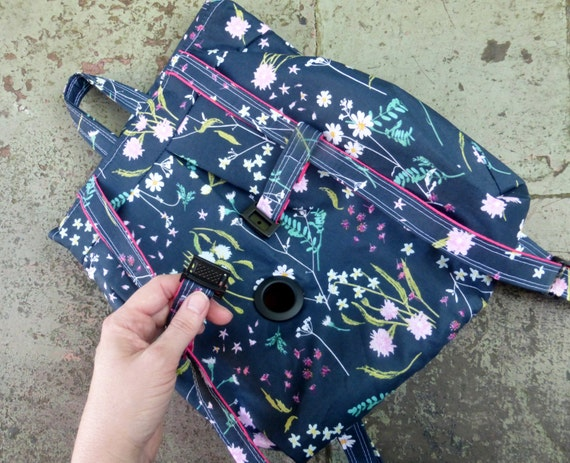 Custom Fabric Choices Clasp Hook to Hang Pump Adjst Straps Zippered Pocket Cute Feeding Tube Backpack