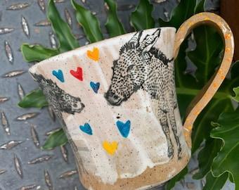 Donkey Heart Mug - Kissy Face Donkeys