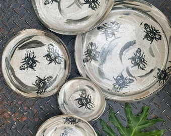 Bee Plate Set - Please allow 2 - 3 weeks for shipping
