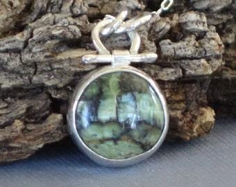 Opal Pendant, Mexican Opal Pendant, Green Pendant,