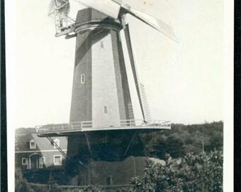 vintage photo windmill