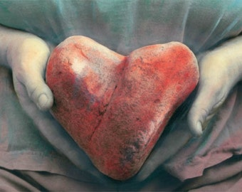 Heart in Hands Fine ARt Color photograph