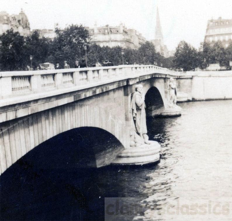 Vintage Photo 1912 Le Pont De L Alma Bridge In Paris Etsy