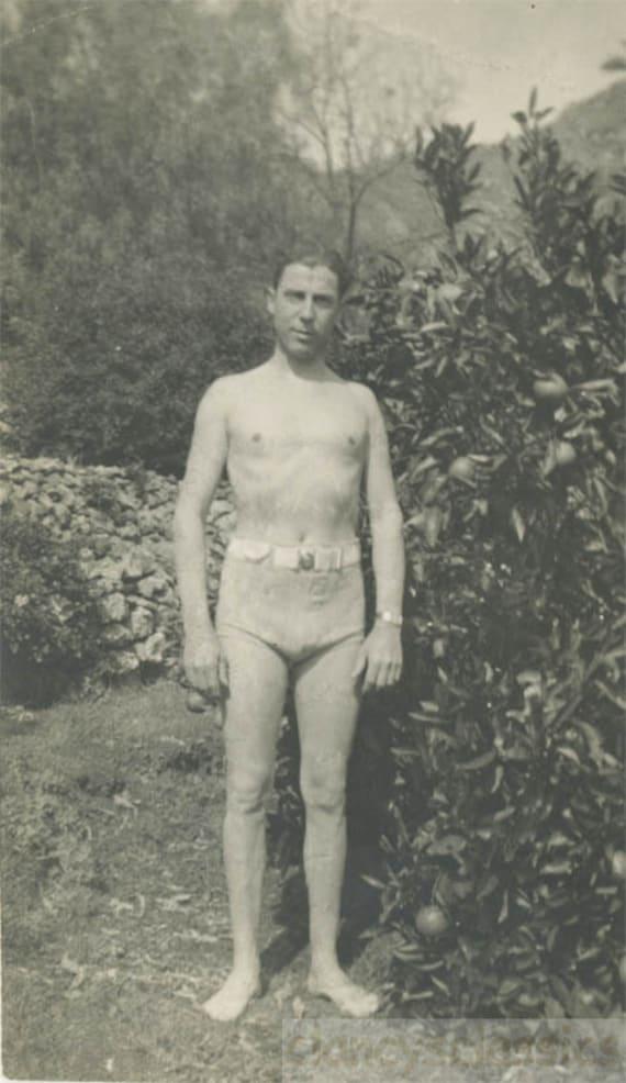 Photo En 1930 Bain Vintage Homme Maillot Des De Années Maigre SUGzVqpM