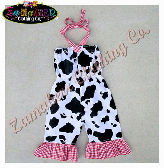 Girl Farm Outfit Clothing Baby Barn Cow Outfit Top Pant Set Red Gingham 1st 2nd Birthday 3 6 9 12 18 24 Month Size 2T 3T 4T 5T 6 7