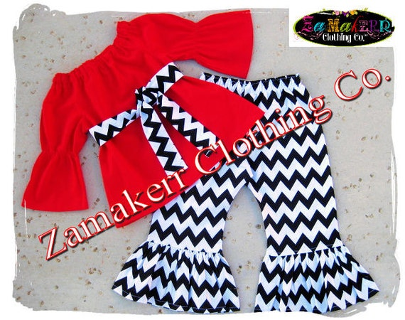 image 0 - Custom Boutique Girl Clothing Christmas Outfit Set Chevron Etsy