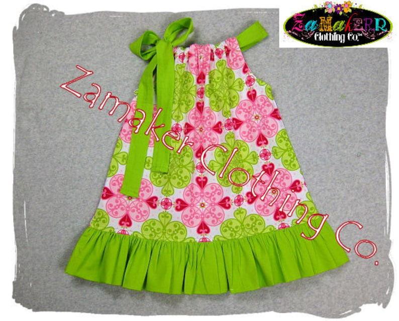 Girls Pillowcase Dress in Sizes 2t 24 month 2 Toddler Baby Girl Dress Pillowcase Dress Pink n/' Lime