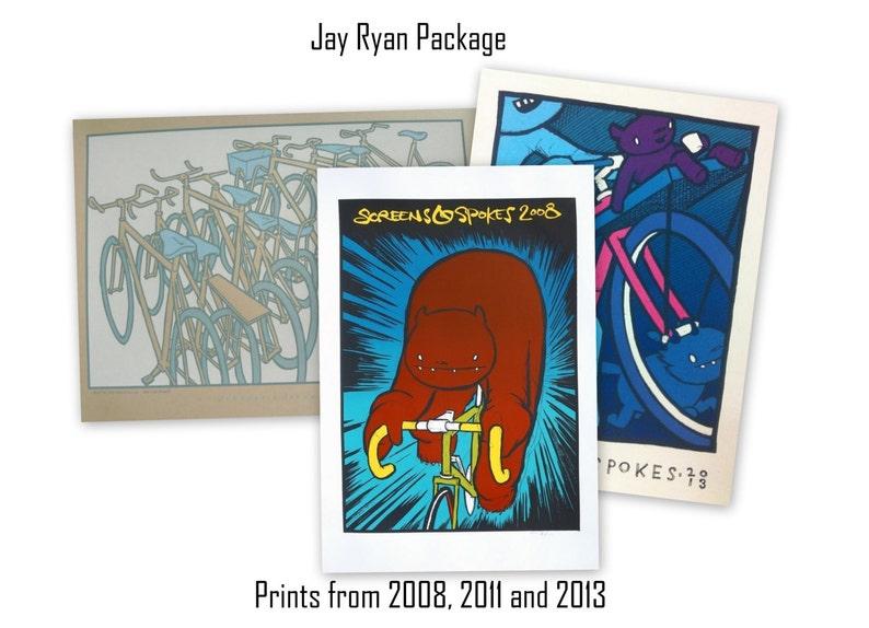 Screens 'N' Spokes  Jay Ryan 3 Print Package image 0