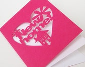 New Home Cut Out Congratulations Card