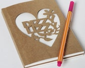 Papercut Personalized Hand Cut Notebook Small Size