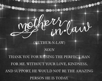4x5 Sparkle Mother in Law Wine Labels // Custom Wedding Wine Labels // Gift // Wedding Favor // Thank You Wine Label