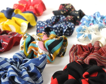Printed fabric scrunchie, CHOOSE YOURS, vintage textile, Hair accessories, MALAM