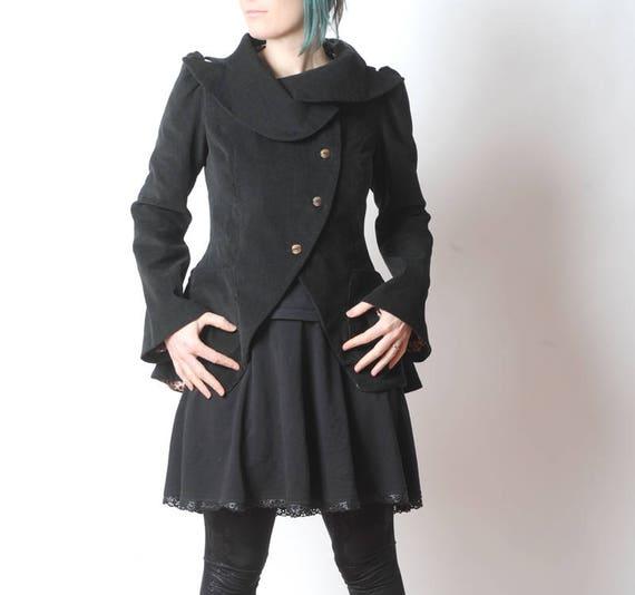 Black Statement Jacket Bustle Jacket in black corduroy  509b67c1b5f