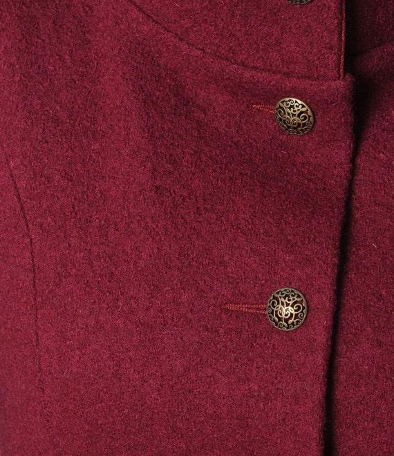 Wein rot Wollmantel Mantel Crimson rote Frauen mit Pixie Kapuze, rot mit Kapuze Wintermantel, Schurwolle Mantel, Damen Mäntel, MALAM