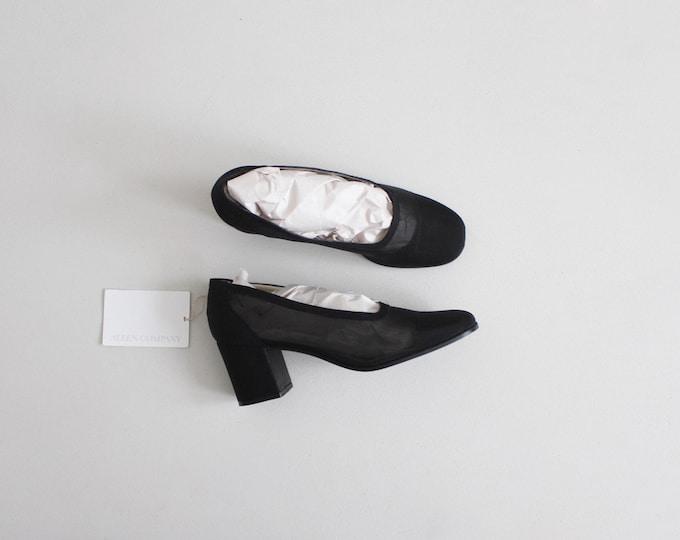 black mesh heels 8 | sheer black heels 7.5 | see through heels 8