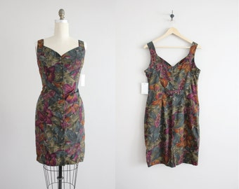 floral tank dress / fitted floral dress / short dress