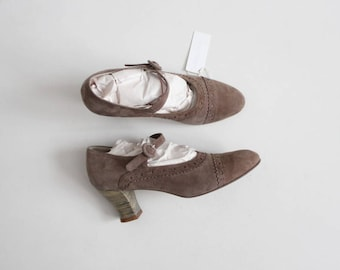 taupe mary janes | suede mary jane heels 6.5 | taupe heels 7.5