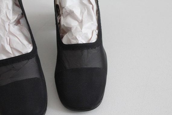 black mesh heels 8 | sheer black heels 7.5 | see … - image 4