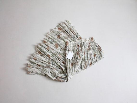 floral gauze skirt | neutral floral skirt | cotton