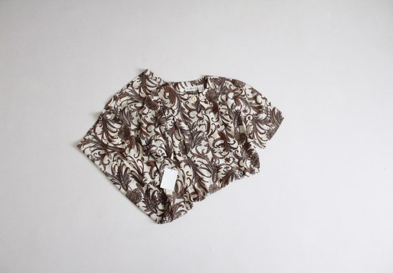 paisley silk dress | brown and white dress | paisl
