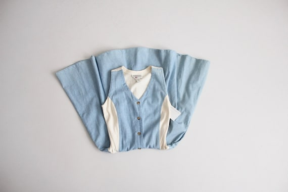 stretch chambray dress | denim dress | chambray te