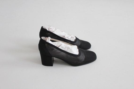 black mesh heels 8 | sheer black heels 7.5 | see … - image 3