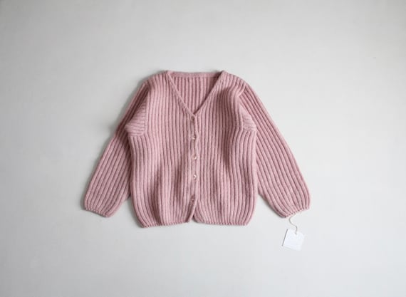 dusty rose sweater | fuzzy mohair cardigan | pink