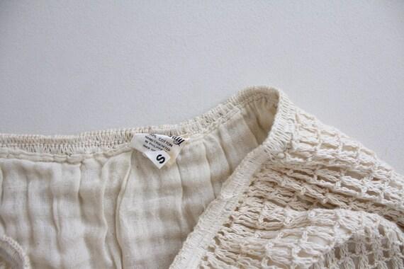 cream crochet outfit | vintage 1970s crochet dres… - image 7