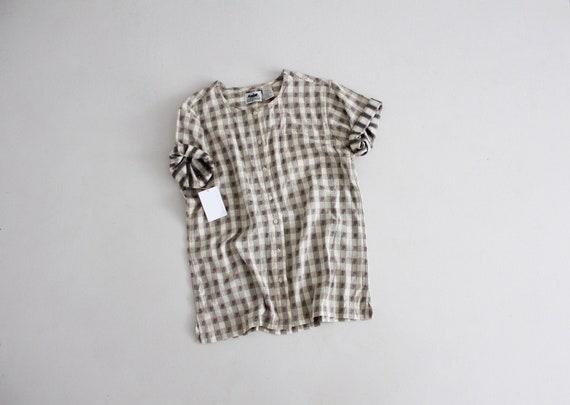 plaid floral blouse | muted floral blouse | floral