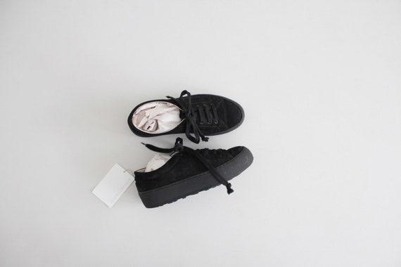 suede platform sneakers 6.5 | black sneakers 7 | b