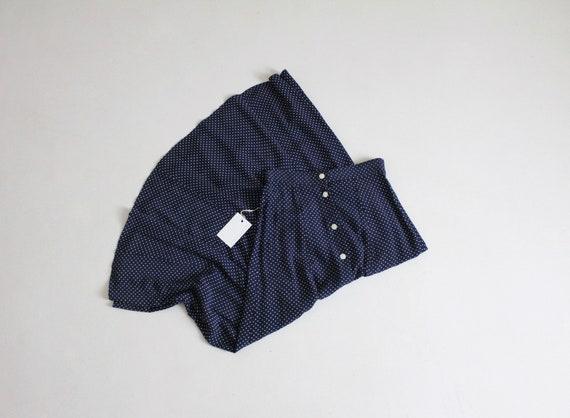 navy polka dotted skirt | polka dot midi skirt | l