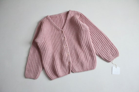 dusty rose sweater | fuzzy mohair cardigan | pink… - image 5