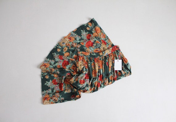 green rose skirt   vintage Ralph Lauren skirt   fu