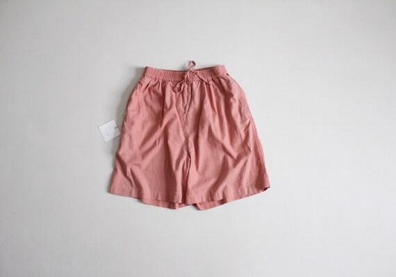 clay pink shorts | linen drawstring shorts | baggy