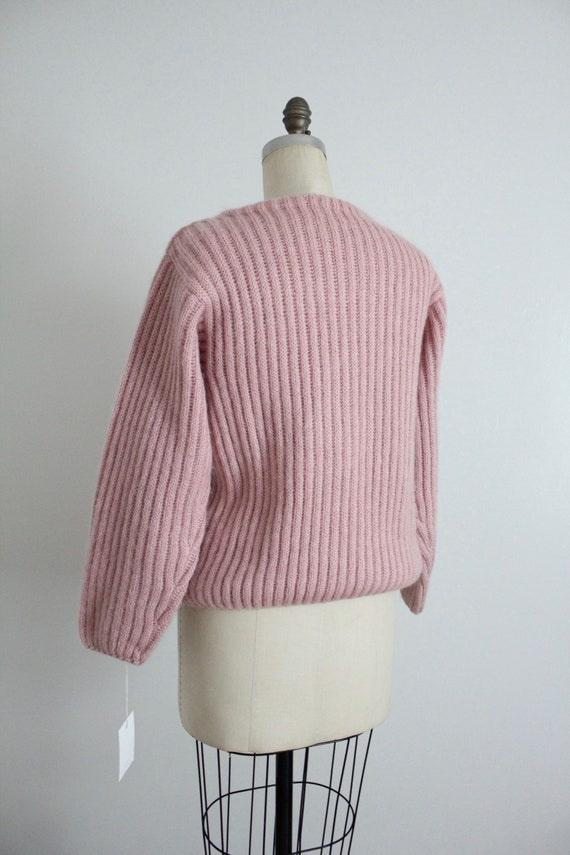 dusty rose sweater | fuzzy mohair cardigan | pink… - image 8