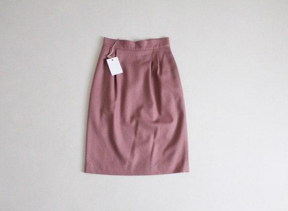 dusty rose skirt | vintage wool skirt | pink wool